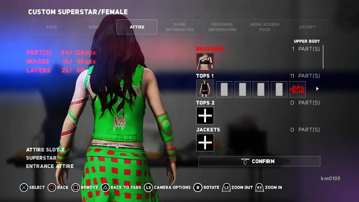 06 「NINJA GIRL」 6 通常コスチューム バージョン 入場時コスチューム 名言入りシャツ 背面.jpg